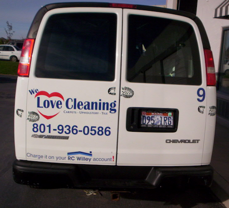 Love Cleaning--About Us page van photo